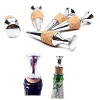 HLbi-Zinc Alloy  Flat Wine Stopper Wine Cork Wine Bottle Stopper