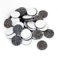 HRGC-50Pcs Round Shaped Table Chair Furniture Leg Felt Mat Pad Gray