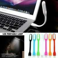 HRiQ-Flexible Mini USB LED Light Lamp For Desktop Reading Laptop PC