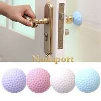 HSxh-Self Adhesive Silicone Wall Protectors Door Handle Bumpers Buffer Guard Stoppers Silencer Crash