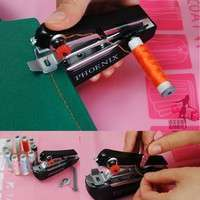 HXKh-Useful Portable Sewing Machine Needlework Cordless Mini Hand-Held Clothes Fabrics Cotton Home Useful Sewing Machine