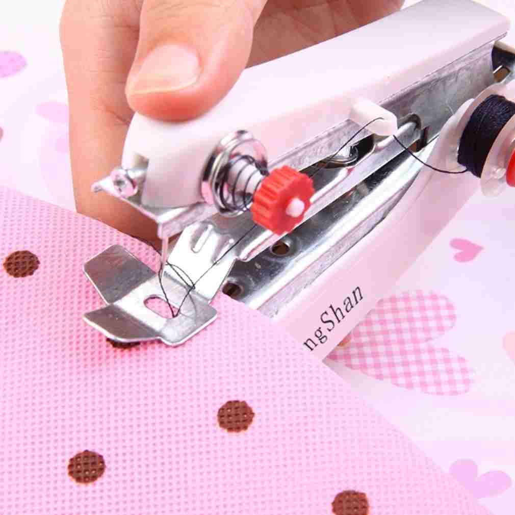 Useful Portable Sewing Machine needlework Cordless Mini Hand-Held Clothes Fabrics Cotton home useful Sewing Machine-1