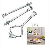 HaZH-3 Layer Tier Steel Food Cupcake Cake Display Stand Platter Rack Wedding Xmas