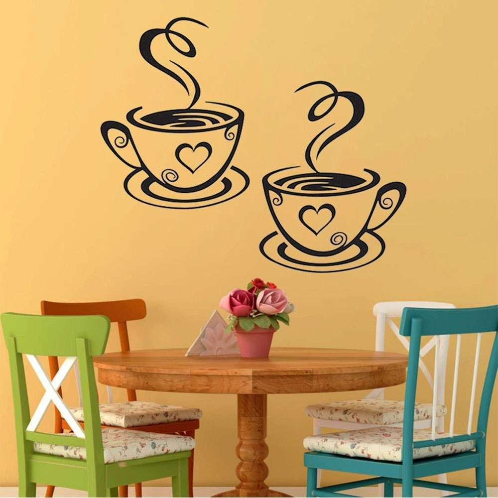 Mural Beautiful Design Decal Kitchen Restaurant Cafe Tea Wall ...