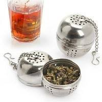 HbMi-New Stainless Steel Ball Tea Infuser Strainer With Hook Loose Tea Leaf Spice Ball