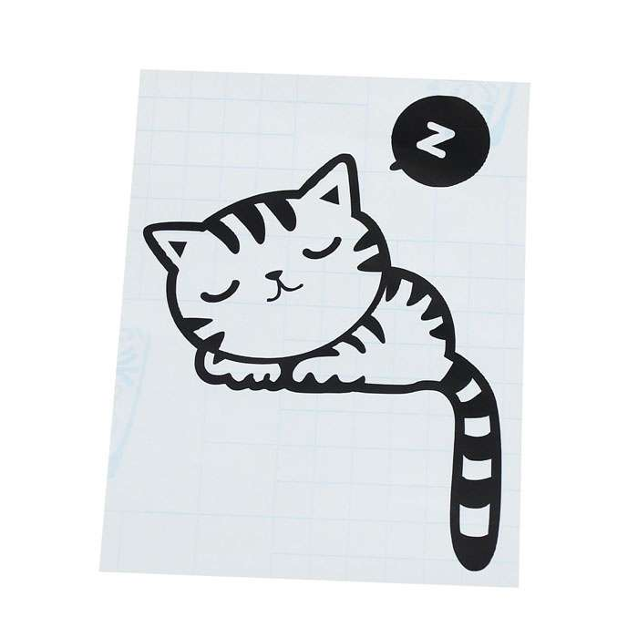 Cartoon Sleeping Cat Switch Sticker Room Window Wall Decorating Switch Vinyl Decal PVC Sticker Decor-1