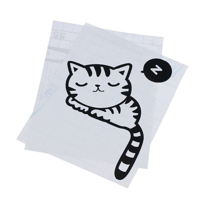 Cartoon Sleeping Cat Switch Sticker Room Window Wall Decorating Switch Vinyl Decal PVC Sticker Decor-2