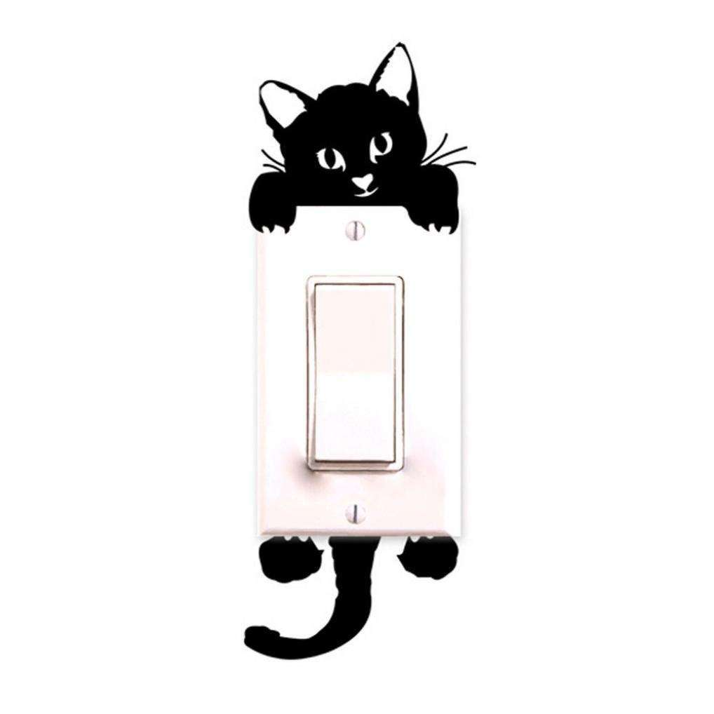 Cartoon Sleeping Cat Switch Sticker Room Window Wall Decorating Switch Vinyl Decal PVC Sticker Decor-7