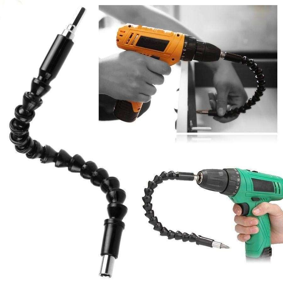 Electronics Drill Black 290mm Flexible Shaft Bits Extention Screwdriver Bit Holder Connect Link