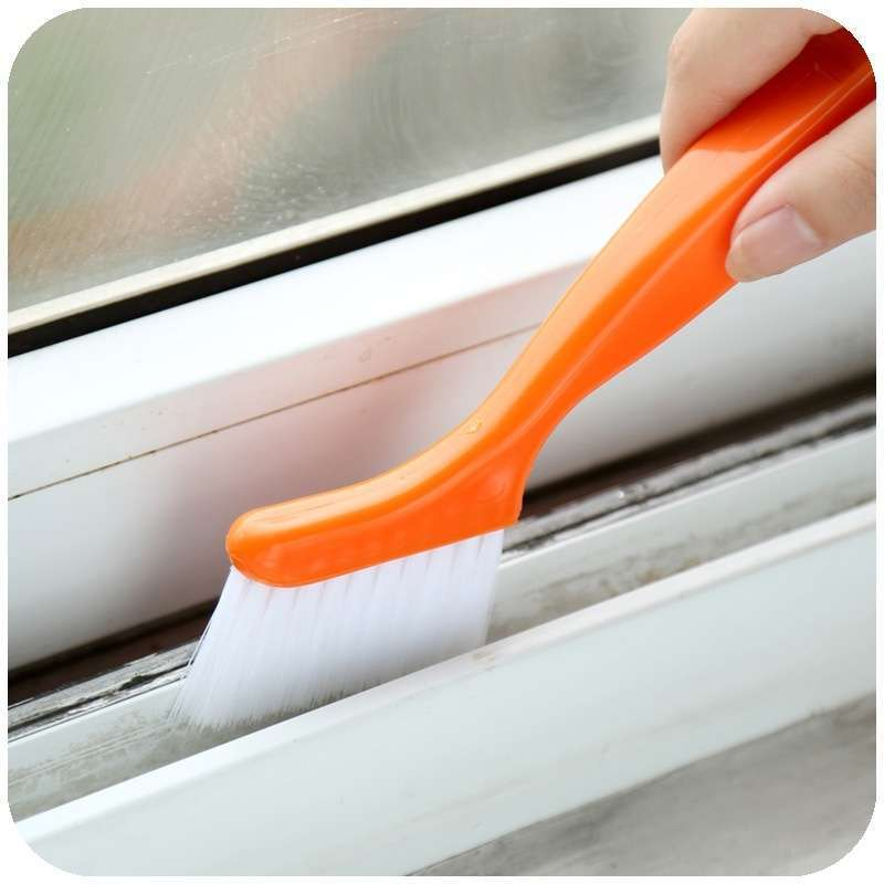 2 in 1 Multipurpose Window Groove Cleaning Brush Nook Cranny Household Keyboard Home Kitchen Folding Brush Cleaning Tool-1