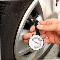HinI-Car Vehicle Motorcycle Bicycle Dial Tire Gauge Meter Pressure Tyre Measure Ho9 (Color: Black)