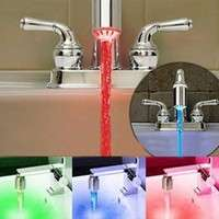 Hpy1-Temperature Sensor LED Light Water Faucet Tap 3 Color RGB Glow Shower