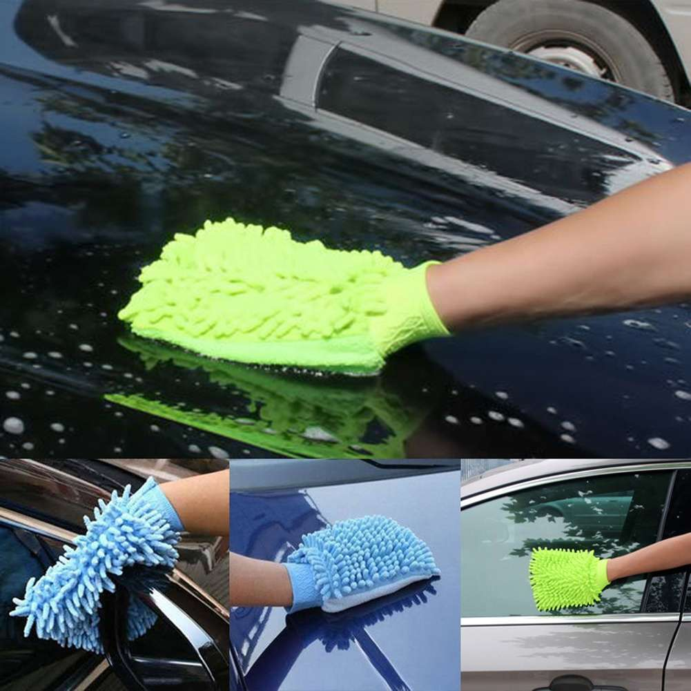 High Quality Microfiber Car Wash Cleaning Gloves Sided Chenille Gloves Cleaning Towel