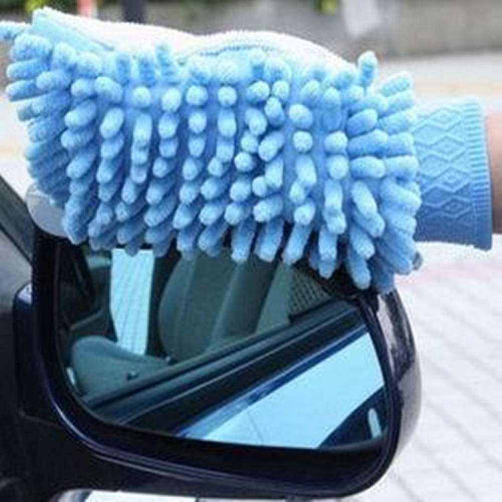 High Quality Microfiber Car Wash Cleaning Gloves Sided Chenille Gloves Cleaning Towel-2