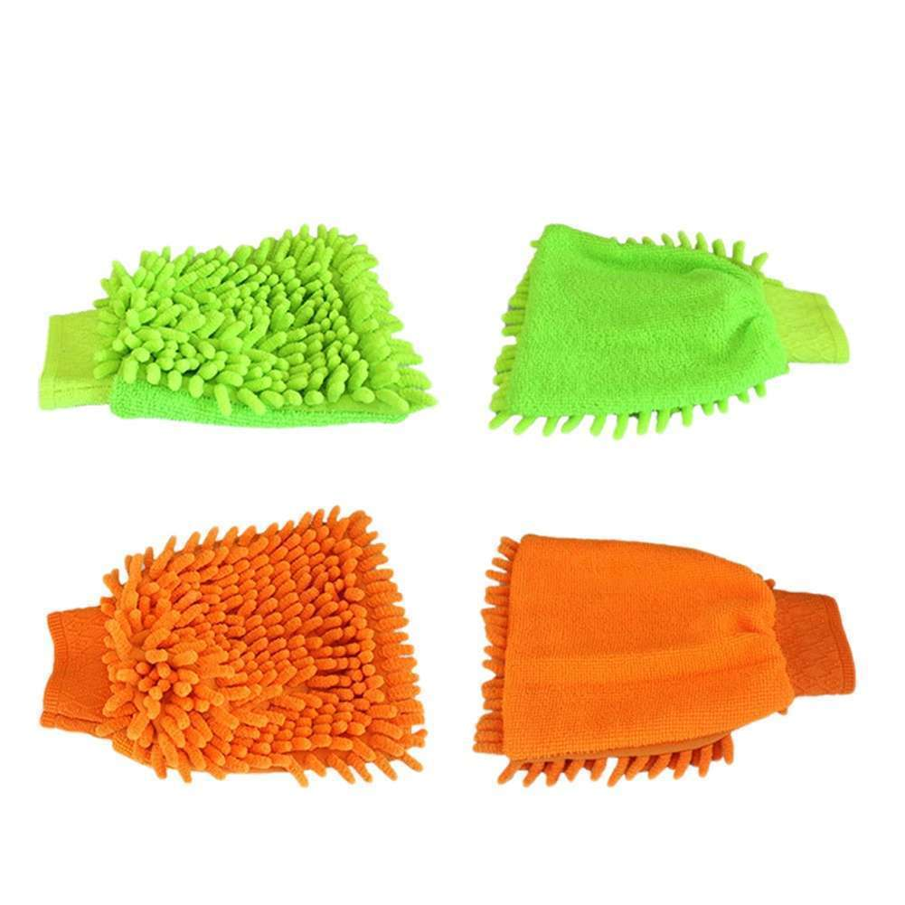 High Quality Microfiber Car Wash Cleaning Gloves Sided Chenille Gloves Cleaning Towel-5