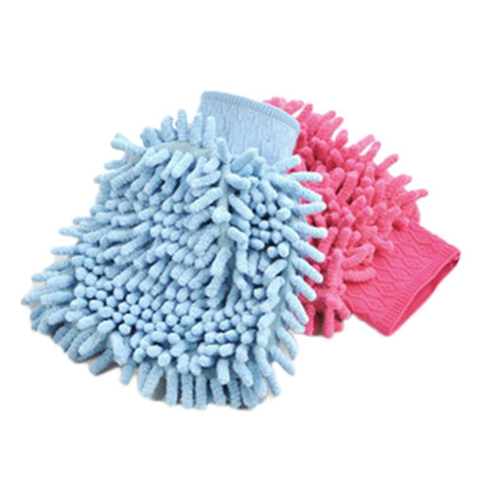 High Quality Microfiber Car Wash Cleaning Gloves Sided Chenille Gloves Cleaning Towel-6