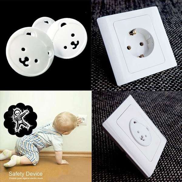 Cover 10Pcs Safety Outlet Plug Covers Child Baby Proof Electric Shock Guard Cap
