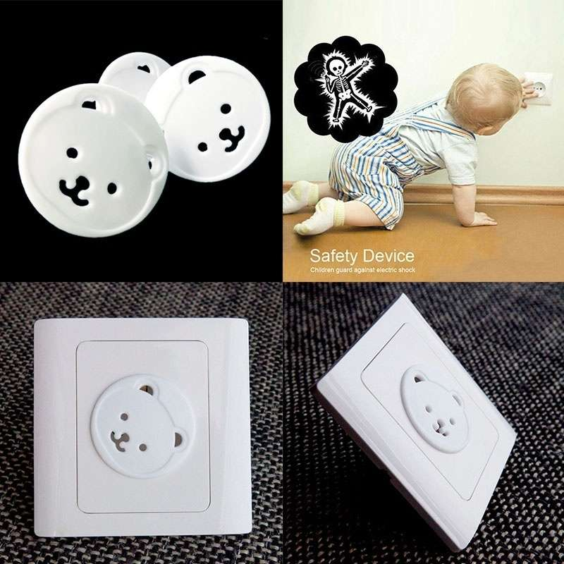Cover 10Pcs Safety Outlet Plug Covers Child Baby Proof Electric Shock Guard Cap-2