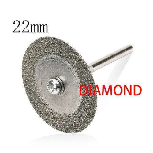 2016 5PCS 22mm Emery Diamond cutting blades Drill Bit+1 Mandrel for Dremel-6