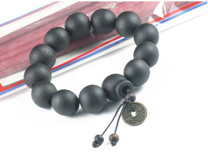 New Wood Buddha Buddhist Prayer Beads Tibet Bracelet Mala Bangle Wrist Ornament-1