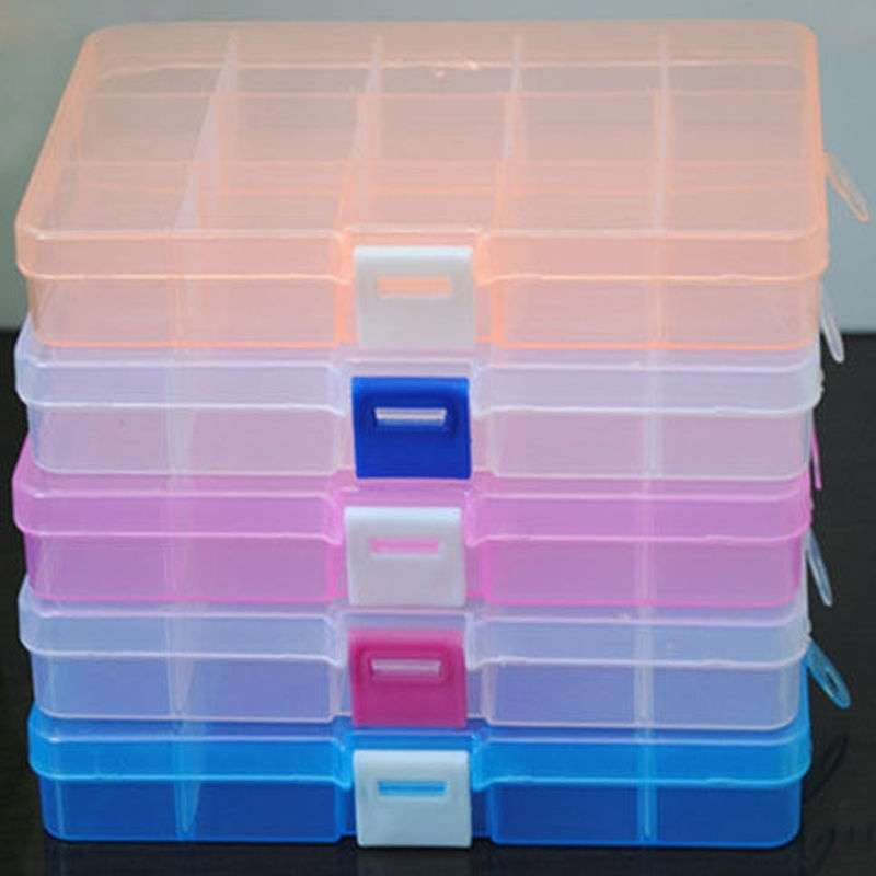 Loom Bands Jewelry Storage Plastic Organizer Beads Craft Box Case 15 Slots