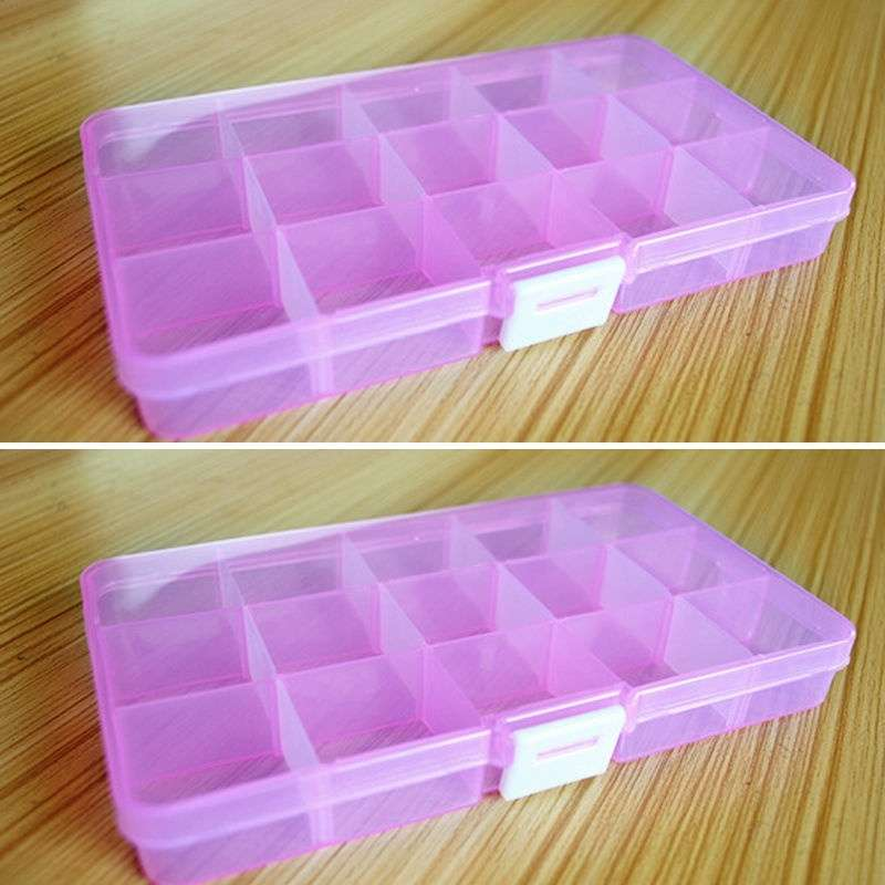 Loom Bands Jewelry Storage Plastic Organizer Beads Craft Box Case 15 Slots-1