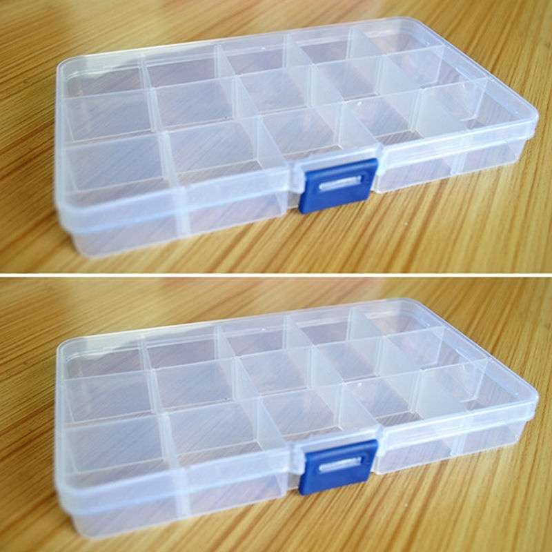 Loom Bands Jewelry Storage Plastic Organizer Beads Craft Box Case 15 Slots-2