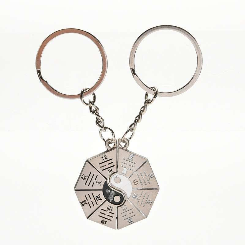 Chinese Style Gift Taoist Religion Tai Chi Keychain Couple Love Keyring Jewellery.Garden-2