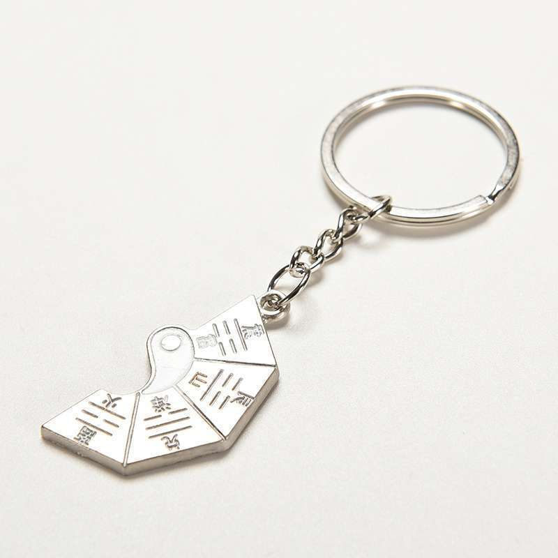 Chinese Style Gift Taoist Religion Tai Chi Keychain Couple Love Keyring Jewellery.Garden-3