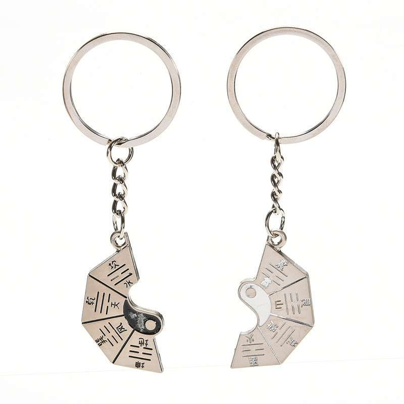 Chinese Style Gift Taoist Religion Tai Chi Keychain Couple Love Keyring Jewellery.Garden-8