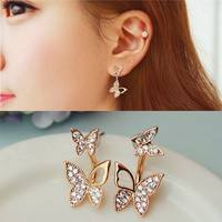 JeiA-Set Butterfly Stud Earrings Lady