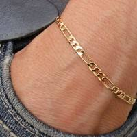 Jjtj-1 PCS Unisex Women Men Fashion Simple Figaro Link Chain Ankle Bracelet Anklet Foot Jewelry