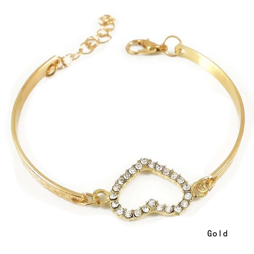 bracelet bangle heart geometric jewelry fashion women product love hollow cuff wide