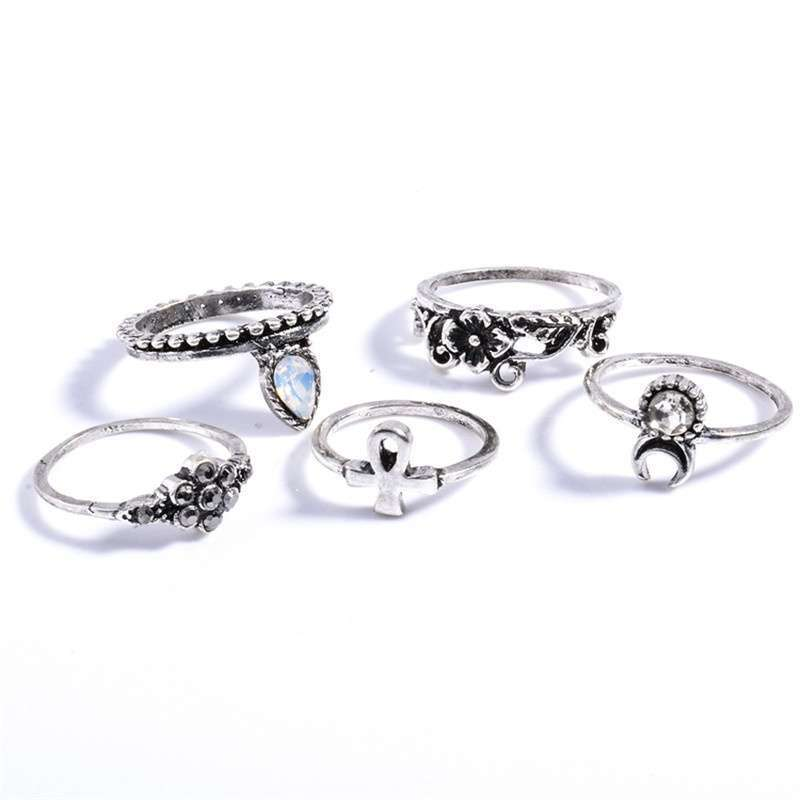 Women Fashion Hot 10PC/SET Retro Vintage Punk Knuckle Tribal Ethnic Joint Jewelry Rings Set-6