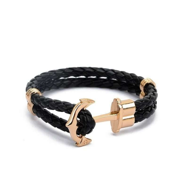 Anchor New Fashion Jewelry Pu Leather Bracelet Men Bracelets For Women Best Friend Gift Summer Style Pulseira Zt4011