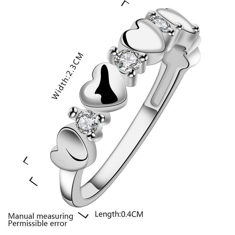 High Quality 925 Sterling Silver Fashion Popular Jewelry fashion inlaid zircon ring LKNSPCR600-4