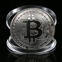 K2nL-1 X Silver Plated Bitcoin Coin Collectible BTC Coin Art Collection Gift Physical