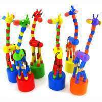K5ee-Baby Kid Wooden Toys Developmental Dancing Standing Rocking Giraffe Gift Toy