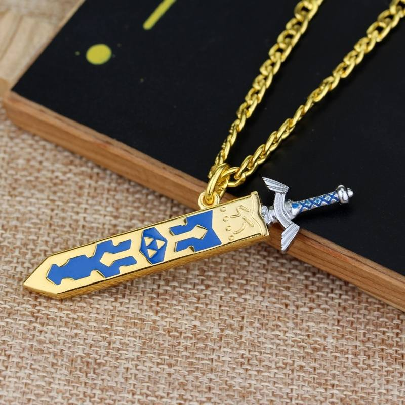New Game The Legend Of Zelda Necklace Removable Master Sword Necklace-1