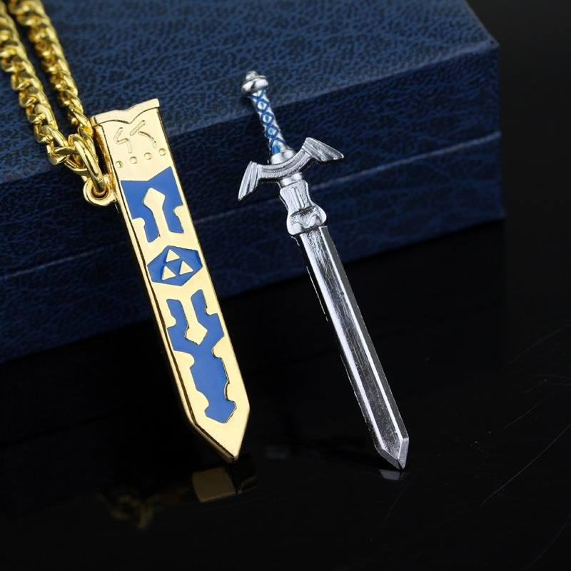 New Game The Legend Of Zelda Necklace Removable Master Sword Necklace-2