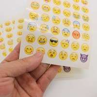 KS4f-Cute Lovely Cut Emoji Smile Sticker For Notebook Message Funny Creative