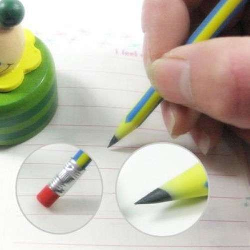 5 Pcs Colorful Magic Bendy Flexible Soft Pencil With Eraser For Kids Writing Gift Gadget-5