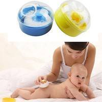 KUbK-Baby Soft Face Body Makeup Cosmetic Powder Puff Sponge Box Case Container