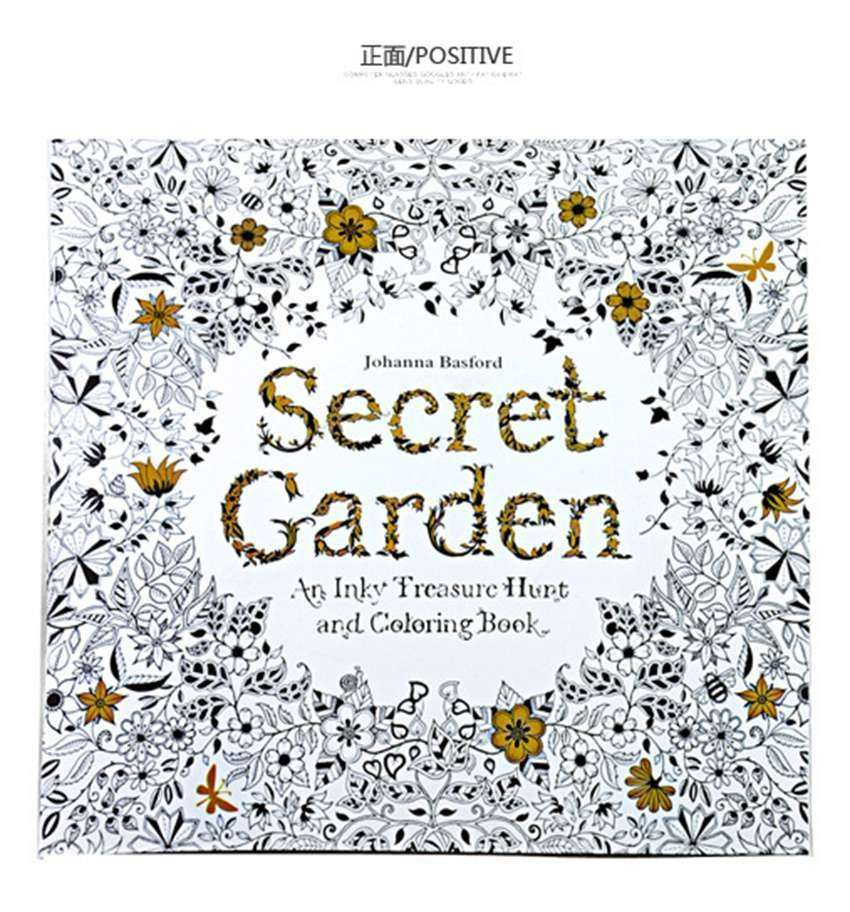Coloring Book For Children And Adults With Dark Secret Garden