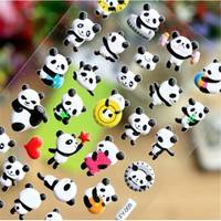 Kg8R-Decorate Diary Sticker Creative Cute Panda Sponge Stickers