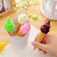 KhN5-Cute Novelty Ice Cream Ballpoint Pen School Office Kids Toy Gift