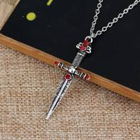 Kjuv-Gryffindor S Sword Jewelry Harry Potter Horcrux Hogwarts School Badge Necklace Christmas