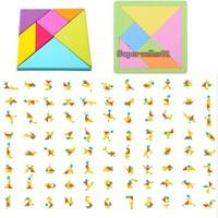 KkFX-Colorfull Foam Tangram Brain Teaser Puzzle Educational Developmental Kids Toy