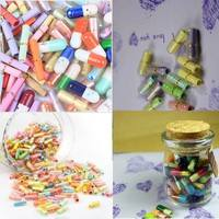 Kpxc-Cute 50 Pcs Popular Message Capsule Adorable Pills Special Gifts Lovely Collection