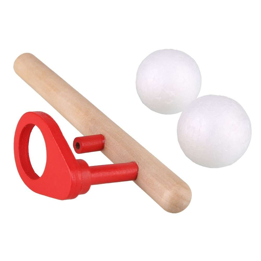 Wooden Blowing Balance Floating Ball Game Flute Blow Children's Educational Toy-1